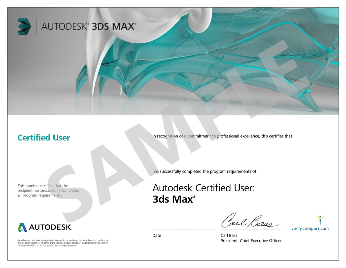 Certificazione 3ds Max Certified User